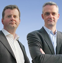 Evident Legal founders Jonathan Brewer (left) and Jean-Paul Camelbeek