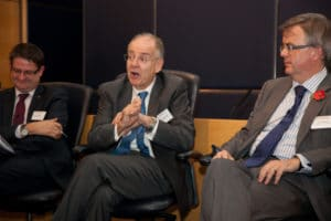 Lord Falconer (centre) was Shadow Lord Chancellor