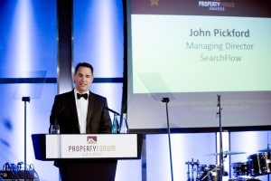 Searchflow managing director John Pickford welcomes guests