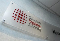 SRA reception sign