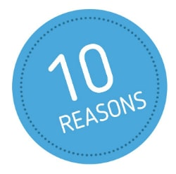 10 Reasons Sticker