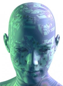 Artificial intelligence - cyber digital head