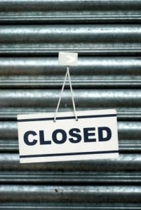 Do you have a closed sign to put up?