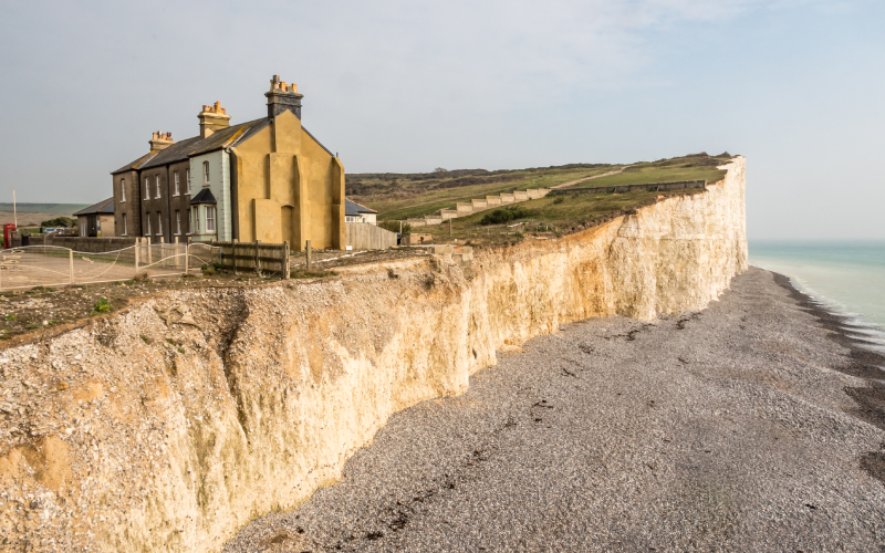 terrafirma Coastal erosion of the chalk cliffs in Sussex