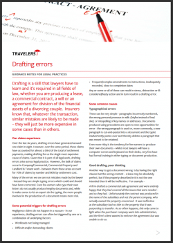 Drafting errors