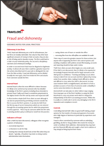 Fraud and dishonesty