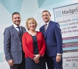 Mark Holt Managing Director of Frenkel Topping Limited Hudgell Solicitors Chief Executive Amanda Stevens and Richard Fraser CEO of Frenkel Topping Group
