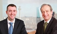 Mike Ainsworth with O'Connors Managing Partner Mark O'Connor
