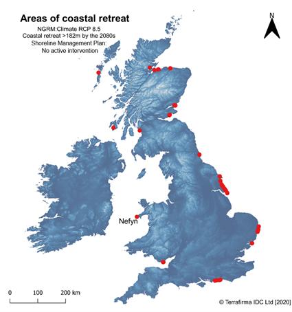 Terrafirma coastal erosion