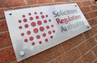SRA: agrees to solicitor removing himself from roll