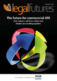 Legal Futures Roundtable report in association with Temple Legal Protection: The future for commercial ATE - frontpage