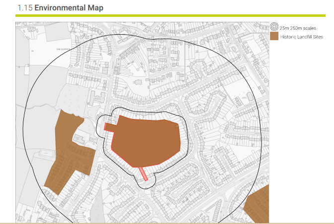 dudley landfill map extract