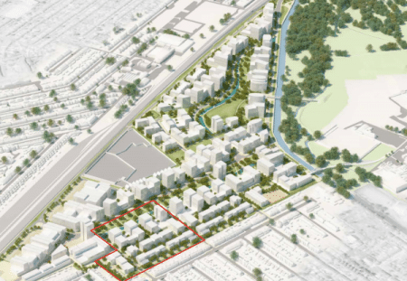 scheme layout for southall waterside